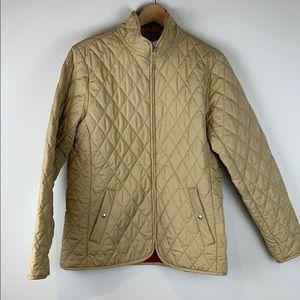 Lands End quilted beige jacket size medium